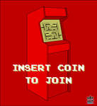 Insert Coin To Join design