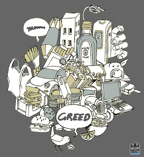 Greed design by cosmicsoda