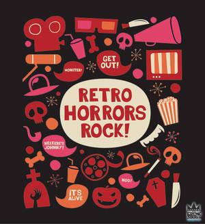Retro Horrors Rock Design