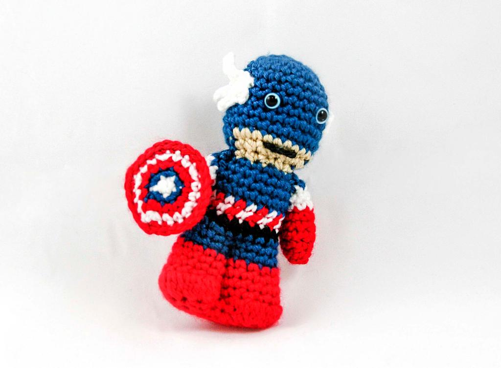 Captain America Crochet Mini Doll by fairytalestitches on ...