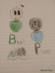 Baldi and Player by LiveScarry