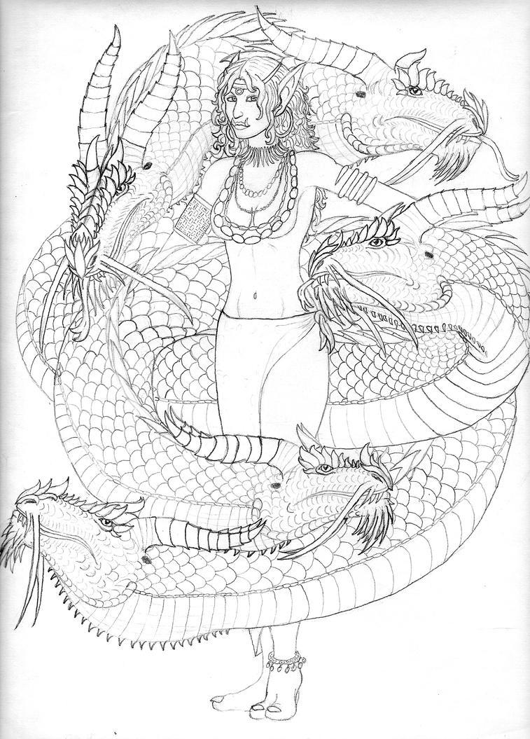 Sarasvati and Sarasai by hdhcentuarlord