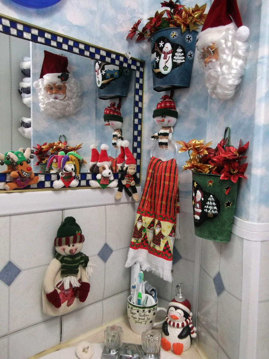 Christmas Decorations For Bathroom -  christmas decorations 2011 bathroom vanity by venicet