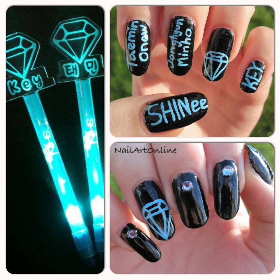 Kpop: SHINee nail art by NailArtOnline on DeviantArt