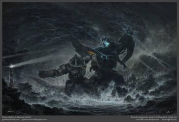 Pavise vs Gargantuan - Kaiju vs Jaeger by VNC-Children