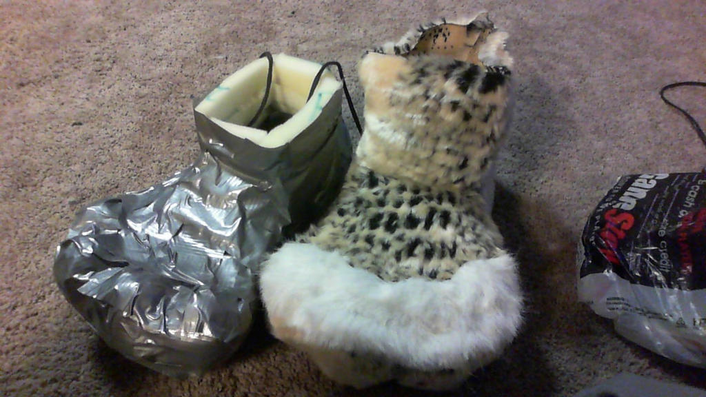 fursuit shoe paws before and after by ilovemy3cats
