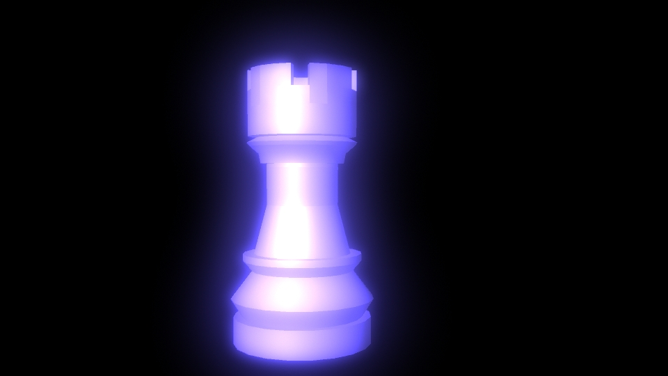 Glowing blue Rook by ilovemy3cats