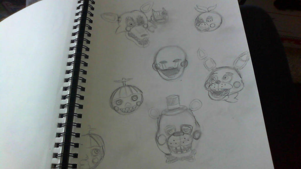 FNAF 2 WIP by ilovemy3cats