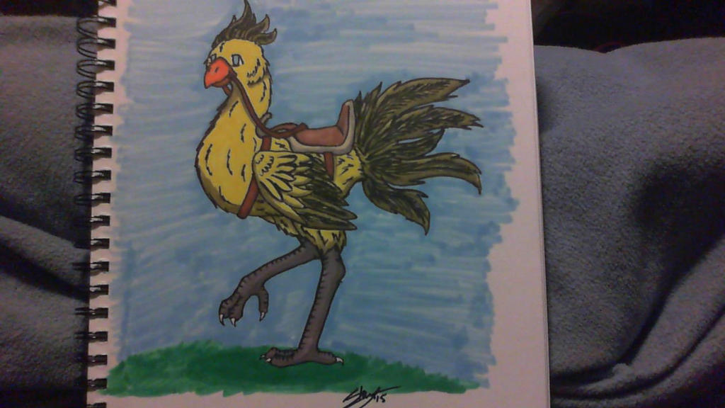 Colored Chocobo by ilovemy3cats