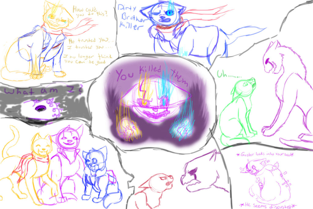 Undertale Cats Sketch Dump 3 by ilovemy3cats