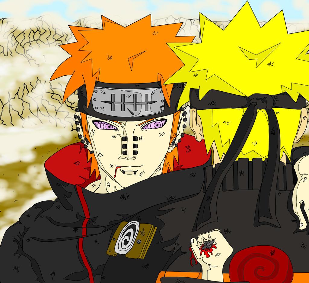 Pain Naruto Wallpaper: Pain Vs Naruto By OHxNOxDOMO On DeviantArt