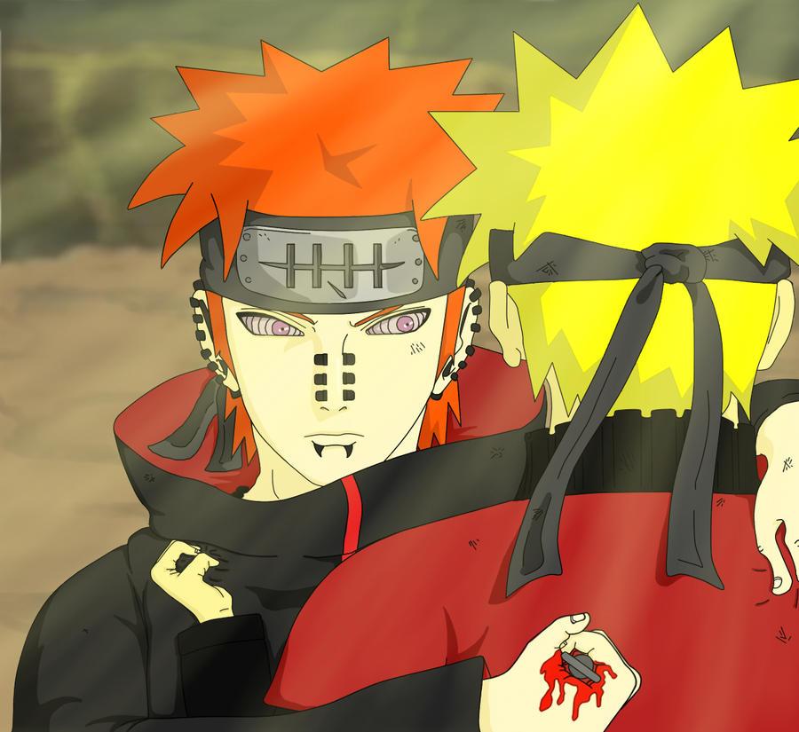 Pain Naruto Wallpaper: Deva Path VS Naruto By OHxNOxDOMO On DeviantArt