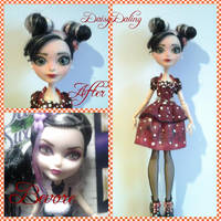 Ever After High Minnie Mouse Ooak Doll Repaint by DaisyDaling
