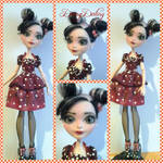 Ever After High Minnie Mouse Ooak Doll Repaint