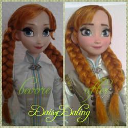 Disney's Frozen Anna Limited Ooak Doll Repaint by DaisyDaling