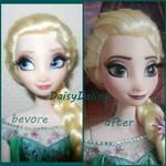 Disney's Frozen Fever Elsa Ooak Doll Repaint