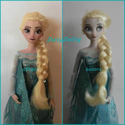 Disney's Frozen Queen Elsa Ooak Doll repaint by DaisyDaling