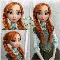 Disney's Frozen Princess Anna Ooak Doll Repaint by DaisyDaling
