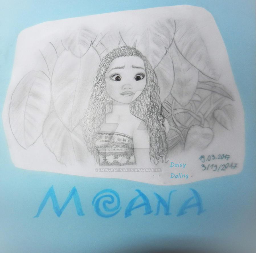 Disney's Moana Waialiki Drawing by DaisyDaling