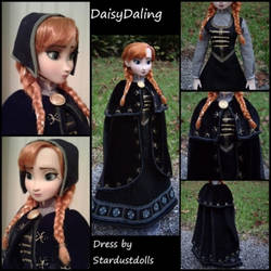 Disney's Frozen Funeral Anna Ooak Doll + Dress