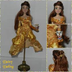 Disney's BatB Belle OOAK Jewelry Holder Doll