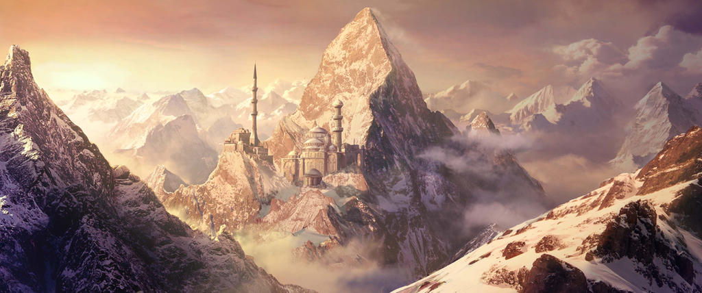 Fantasy Matte Painting - Snow by MartaNael