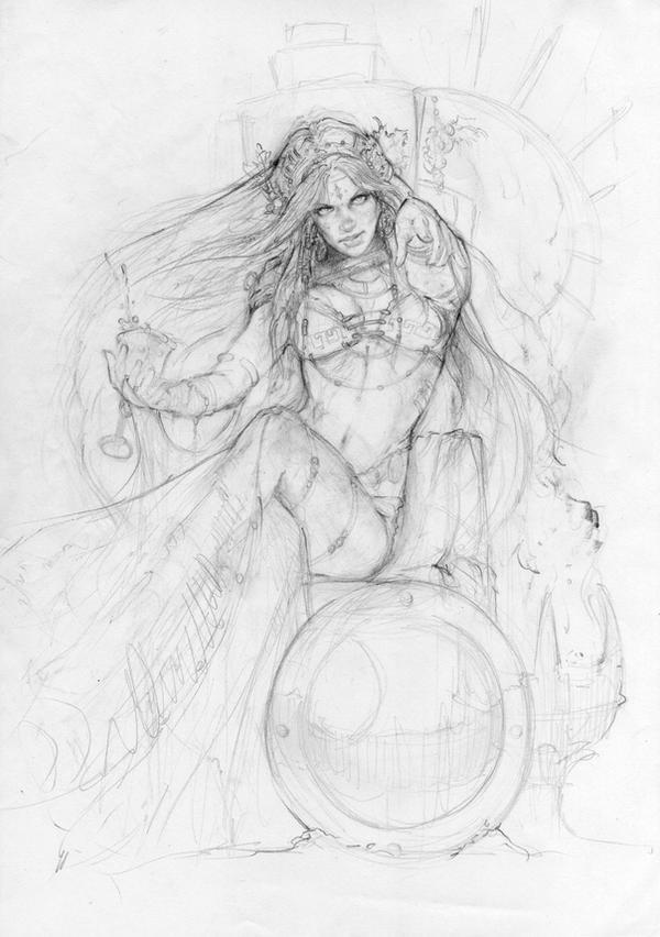Dionysius woman by MartaNael