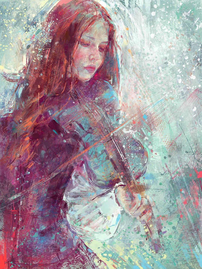 Digital Painting -Winter Heart by MartaNael