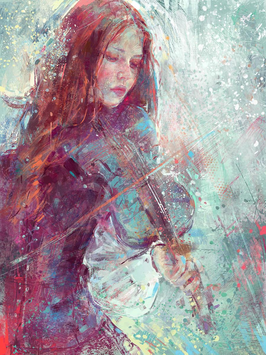 Digital Painting -Winter Heart