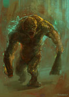 Strong Zombie Concept art by MartaNael