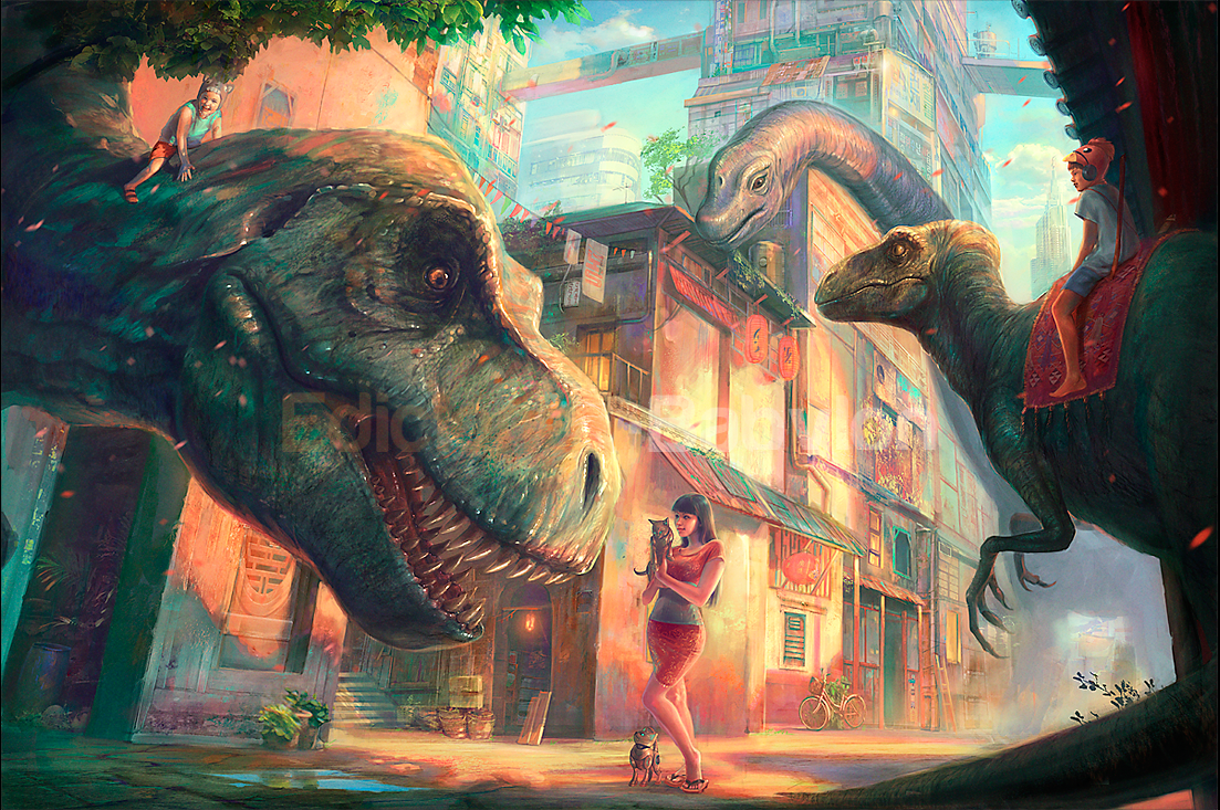 Dinotopia Tribute by MartaNael