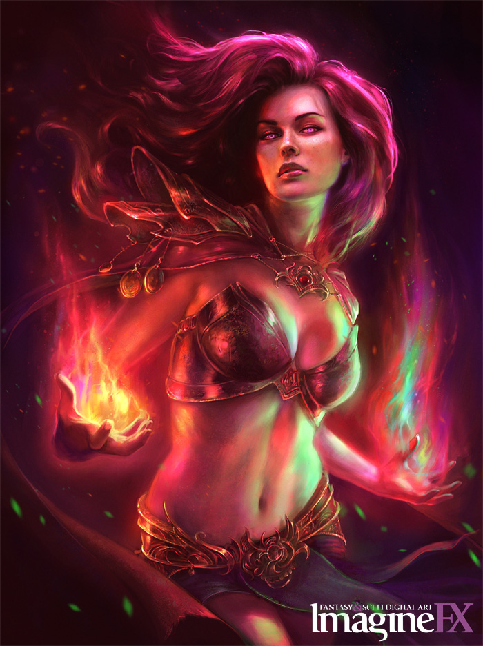 Sorceress Imagine FX Cover by MartaNael