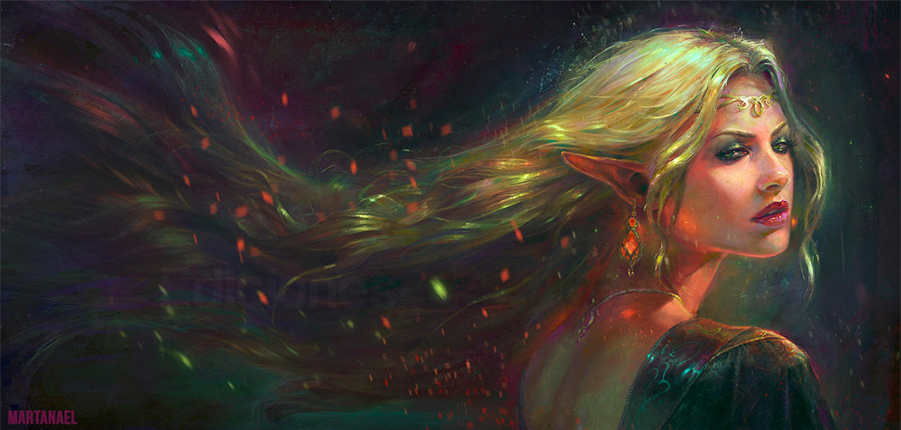 Elf of the stars by MartaNael