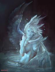 Swan of Tuonela by MartaNael