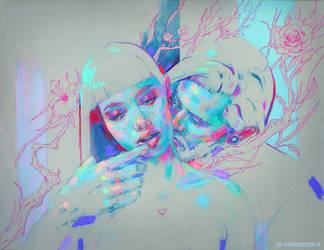 Intertwined lovers II by MartaNael