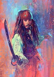 Captain Jack Sparrow by MartaNael