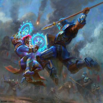 Battle for Azeroth - World of Warcraft promo art by MartaNael