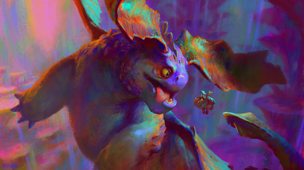 Crimson Goregutter and Fishmeat in the HiddenWorld by MartaNael