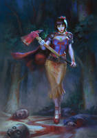 Snow White - Princesses vs Zombies comic cover