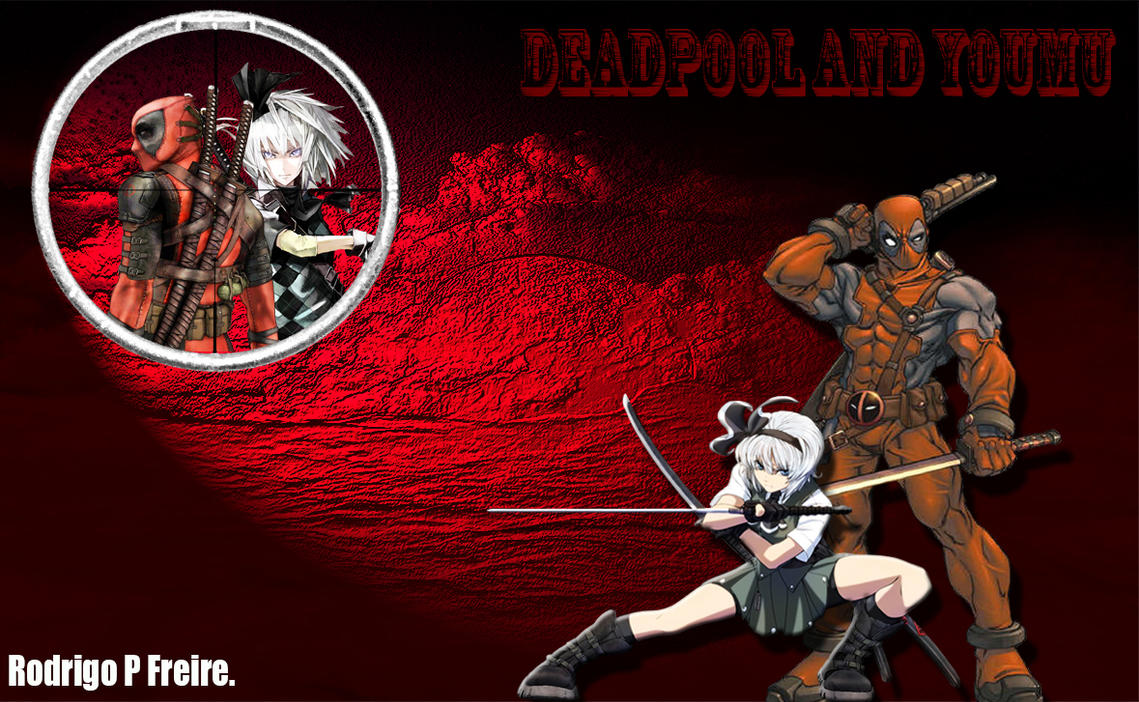 Deadpool And Youmu by brazilking