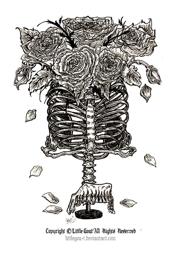 Vase of bones by LittleGoa-t