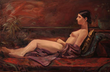 The purple kimono by humblestudent