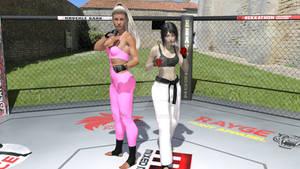 Pamela kickboxer vs Joy karate black belt.2 fights