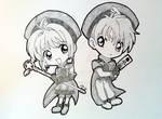 Sakura and Shaoran Chibi