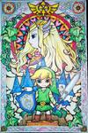 Link and Zelda - Legend of Zelda: The Wind Waker