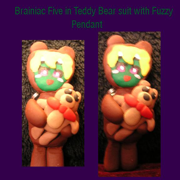 Brainy with Fuzzy Pendant by PriestessOfNox