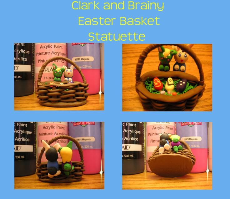 Clark+Brainy Easter Statuette by PriestessOfNox