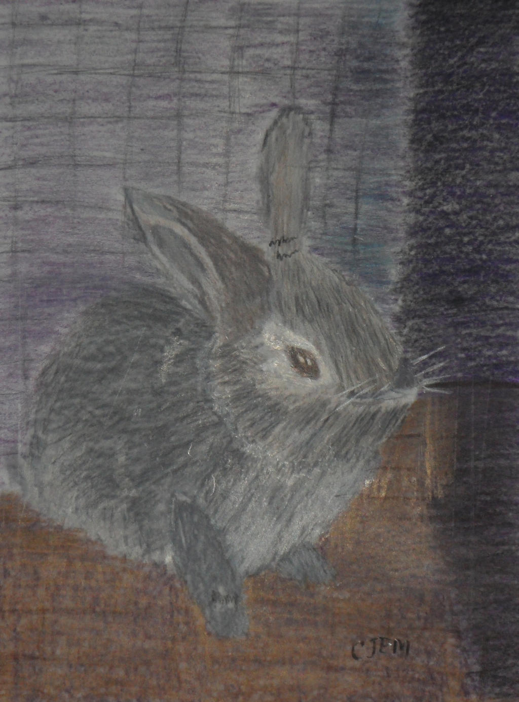 Sam 0976  bunny in colored pencil by ca1jem on DeviantArt