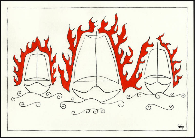 Of the Burning of the White Ships by dieroteiris