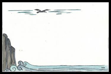 Overhead above the albatross...